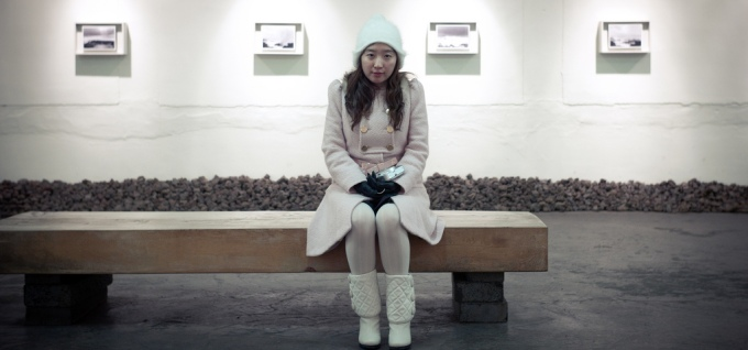 Korean Woman Bench Sitting Gallery