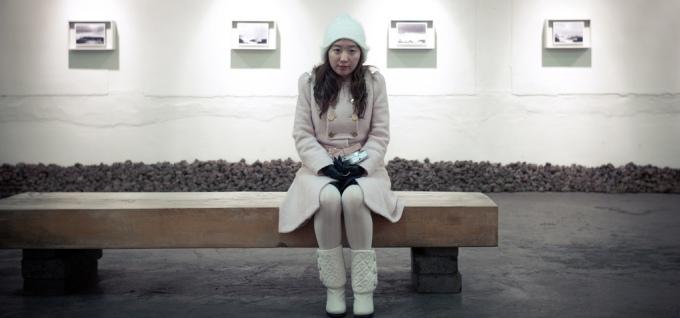 Korean Woman Bench Sitting Gallery