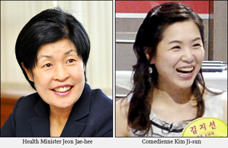 korean-health-minister-jeon-jae-hee-and-comedian-kim-ji-sun