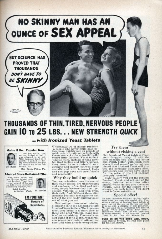 No Skinny Man Has an Ounce of Sex Appeal 1939