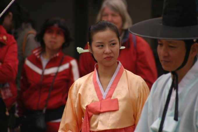 Korean Wedding Sidelong Glance
