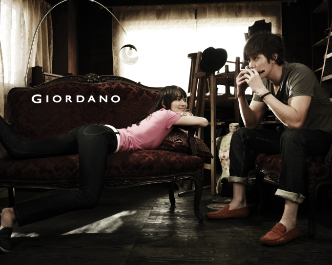 Giordano Wallpaper Shin Min-a So Ji-sub