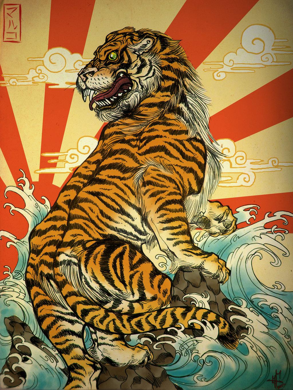 ... Japanese artwork like this too ...