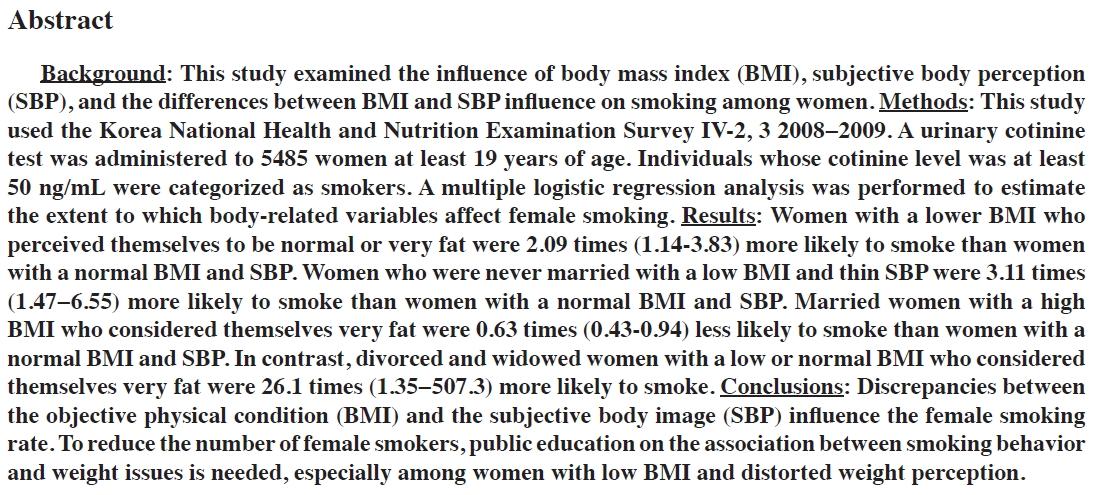 Korean Women Smoking Abstract