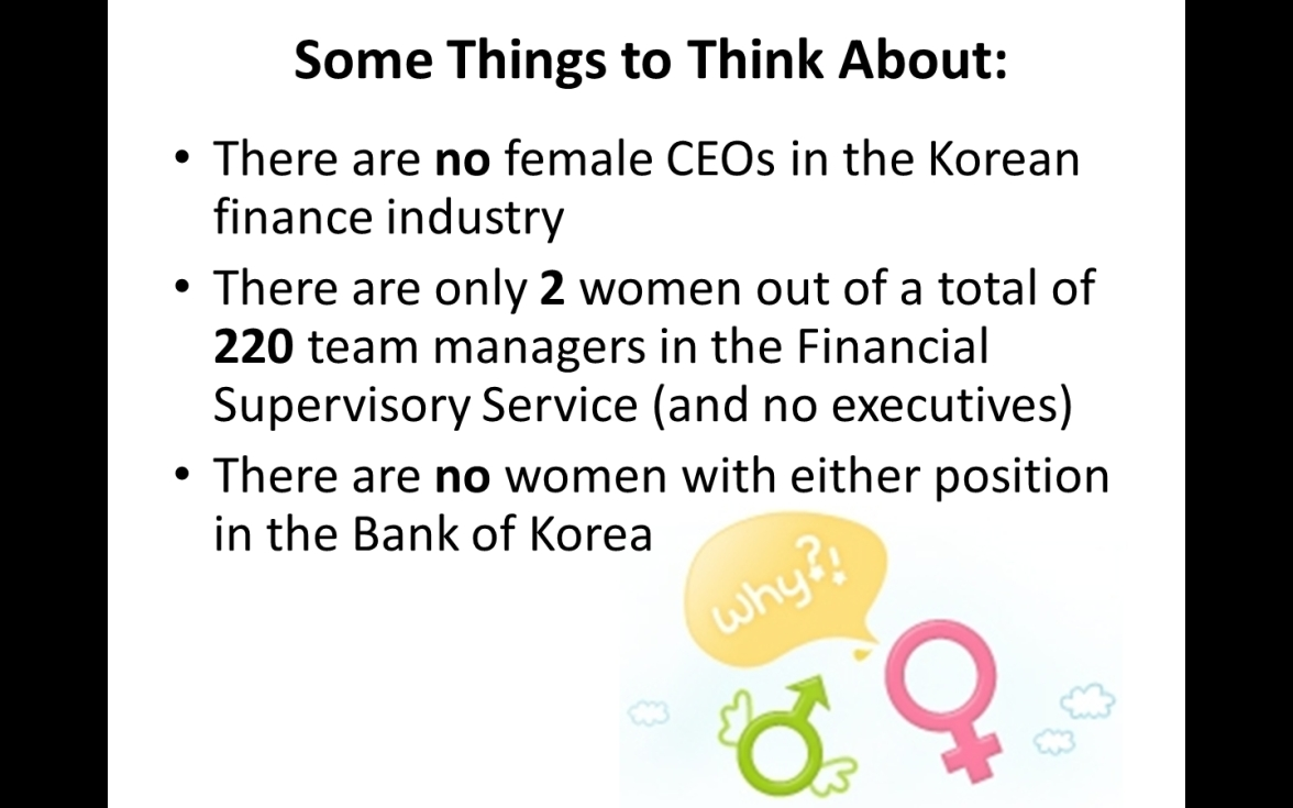 Women in Korean Finance Industry