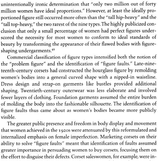 Corset Figure-Classification Schemes p.67 An Intimate Affair