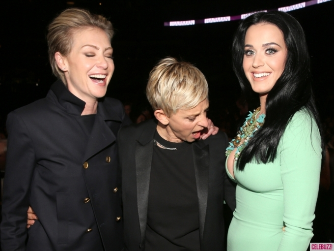 Ellen DeGeneres, Portia de Rossi Check Out Katy Perry