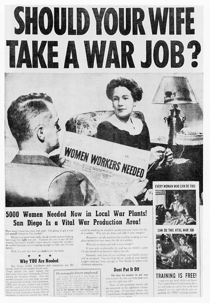 Should Your Wife Take a War Job