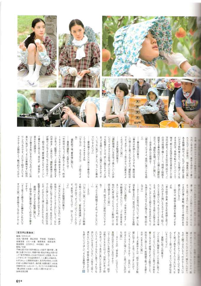 Filiming of The One Million Yen Girl