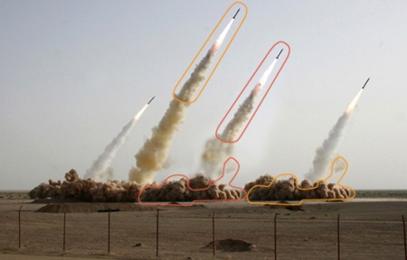 Iran Missle Launch Photoshop