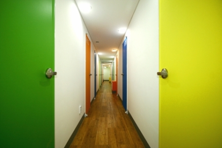 Korean Room Cafe Hallway