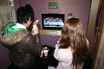 Korean Room Cafe Teen Couple