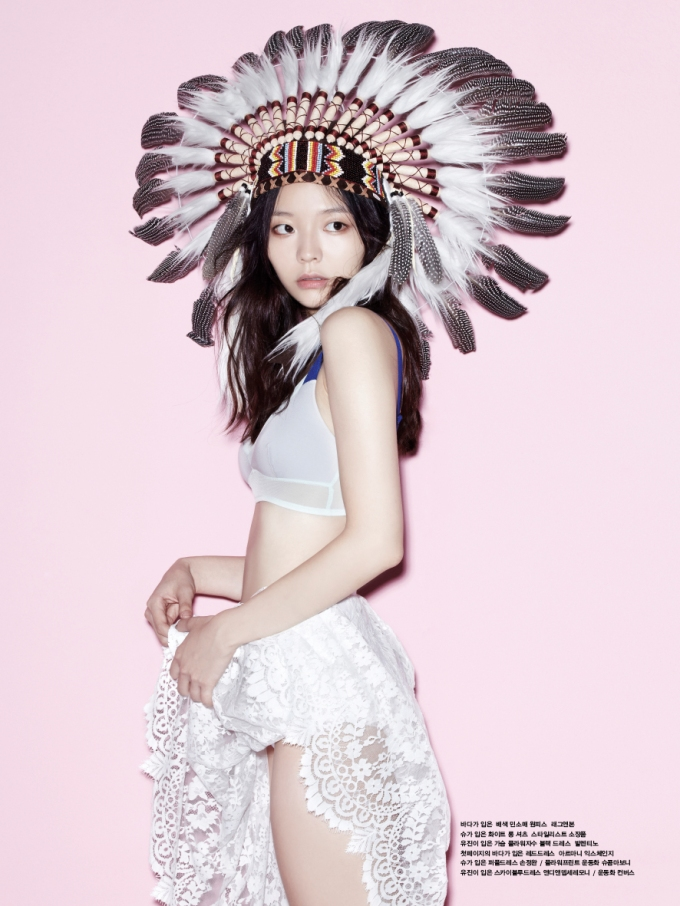 Lee Som -- Oh Boy! Magazine Vol.40 -- Native American Headdress Cultural Appropriation