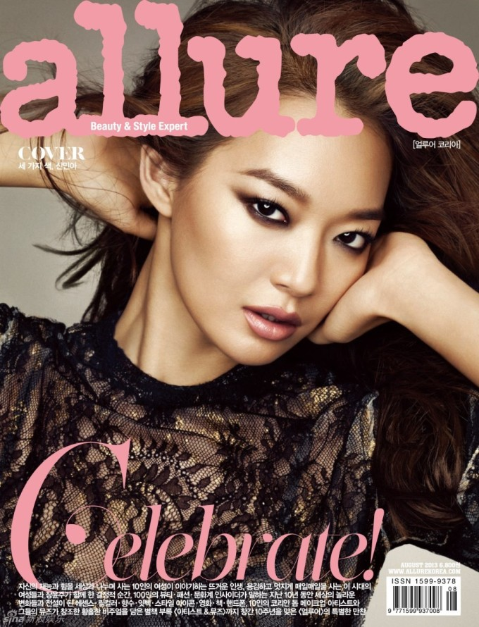 Shin Min Ah, First Korean Cover Model for Allure, August 2013