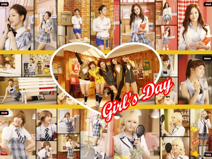 Girl's Day Twinkle Twinkle Composite
