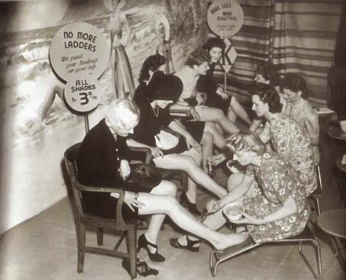 Liquid stockings nylon world war two