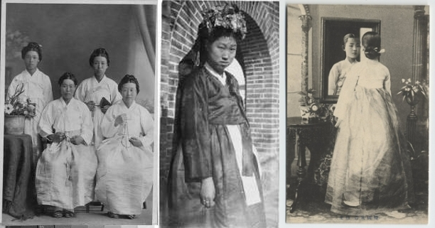 Examples of Korean women in the 1900's