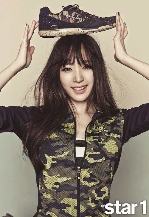 EXID's Hani Star1 shoe on head
