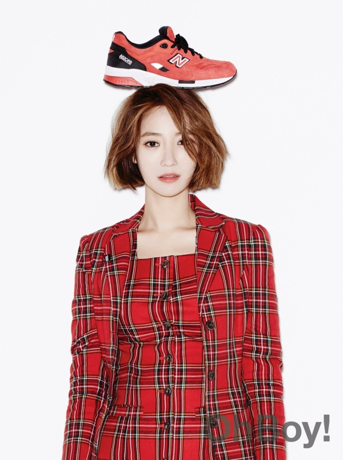 Go Joon Hee - Oh Boy! Magazine Vol.53 shoe on head