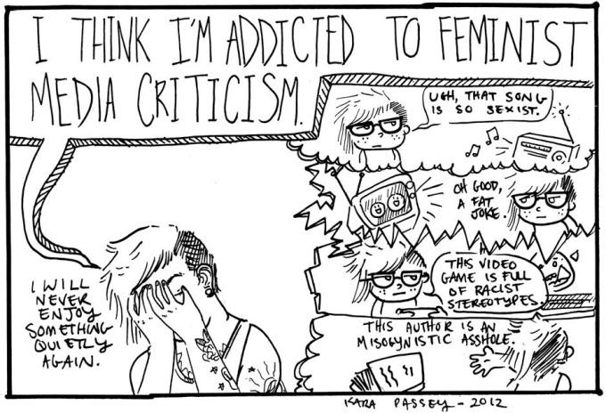 I think I'm addicted to feminist media criticism