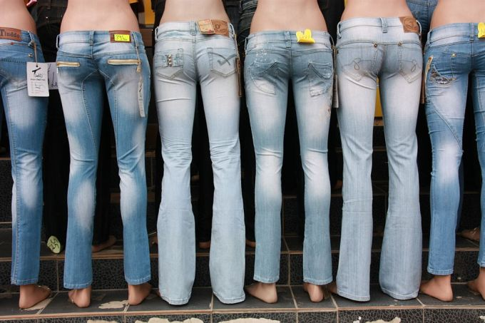 Mannequins with jeans