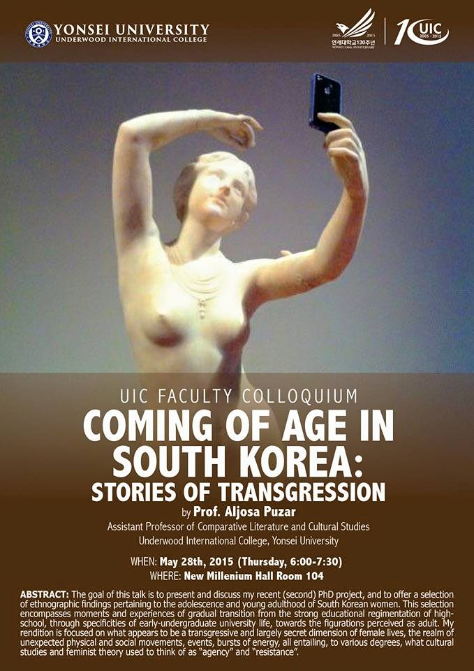 Aljosa Puzar Coming of Age in South Korea