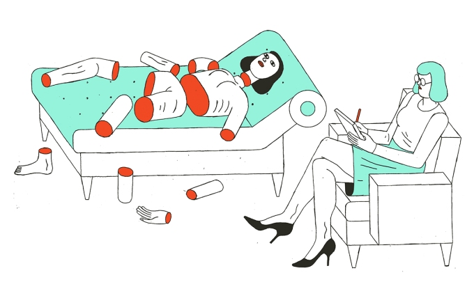 body parts psychologist couch