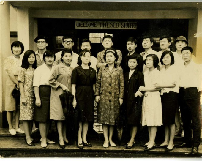 Lee So-hee (이소희) and friends at Hanyang University (한양대학교) circa 1960s