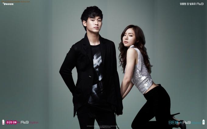 Kim Su-hyeon and Shin Sae-kyeong Man Standing